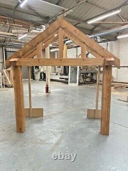 Chunky Solid Oak Porch 2000mm Wide x 900mm depth x 1425mm Post Height Oiled