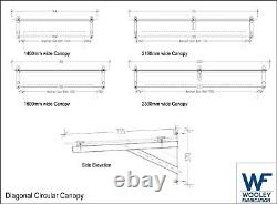 Circular Diagonal Glass Canopy 10mm Thick Glass top, Canopy Porch Door Shelter