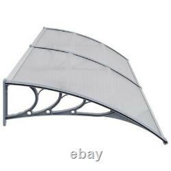 Cover Outdoor Window Door Canopy Fixed Awning Porch UV Water Rain Colors UK