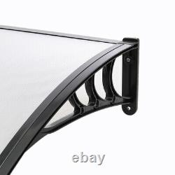 Curved Window Door Canopy Awning Outdoor Porch Patio Front Back Sahde Rain Cover