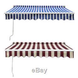 DIY Porch Awning Door Canopy Retractable Manual Awnings Garden Sun Shade Shelter