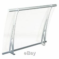 Door Awning Porch Window Rain Cover Storefront Canopy Aluminium Bracket Clear
