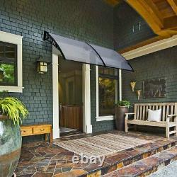 Door Awning Rain Shelter Canopy Outdoor Front Back Porch Shade Patio Roof Cover