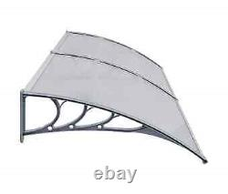 Door Canopy 240x100cm PC Outdoor Porch Window Rain Awning Shelter Shade