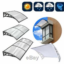 Door Canopy Awning Outdoor Front Back Patio Porch Shade Shelter Sun Rain Cover