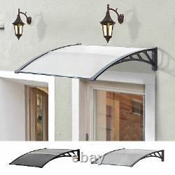Door Canopy Awning Outdoor Window Rain Shelter Cover for Door Porch 100 x 80cm