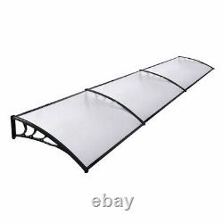 Door Canopy Awning Rain Shelter Front Back Porch Outdoor Shade Patio Roof Cover