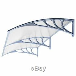 Door Canopy Awning Rain Shelter Front Back Porch Outdoor Shade Patio Roof White