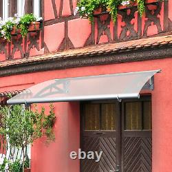 Door Canopy Awning Shelter Front Back Porch Outdoor Shade Patio Roof rain cover