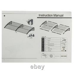 Door Canopy Awning Shelter Outdoor Front Back Porch Patio Window Roof Rain CovMB