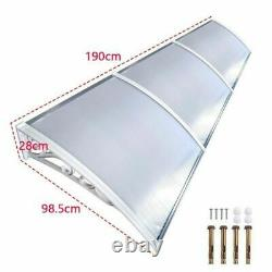 Door Canopy Awning Shelter Outdoor Porch Patio Back Front Window Roof Rain Cover