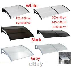 Door Canopy Awning Shelter Porch Sun Shade Outdoor Patio Roof Rain Cover 5 Size