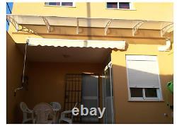 Door Canopy Awning Window Rain Shelter Cover for Front Door Porch White NEW Door