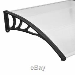 Door Canopy Front Back Awning Porch Sun Shade Shelter Patio Rain Cover Multisize