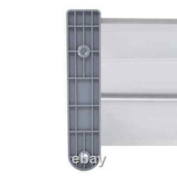 Door Canopy Grey 200x100cm PC Window Rain Porch Shade Awning Shelter C9I5
