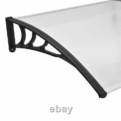 Door Canopy PC Outdoor Patio Porch Window Rain Awning Shelter Shade Multi-Sizes
