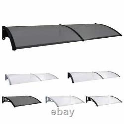 Door Canopy PC Porch Awning Rain Shelter Roof Multi Colours Multi Sizes J Vtin