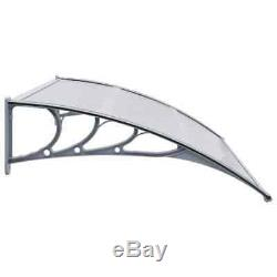 Door Canopy Plastic PC Awning Shelter Porch Window Rain Awning Shelter Shade