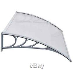 Door Canopy Plastic Rain Shade Awning Shelter Multi Colour Size Porch Shade