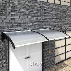 Door Canopy Porch Outdoor Wall Patio Rain Cover Window Awning 240 x 100 cm E4Q1