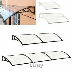 Door Canopy Roof Front Back Awning Shelter Rain Cover Porch Summer House Outdoor