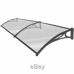 Door Canopy Roof Shelter Awning Shade Rain Cover Porch Front Back Outdoor Patio