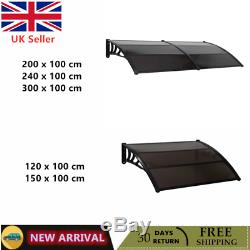 Door Canopy Roof Shelter Awning Shade Rain Cover Porch Front Outdoor Patio UK