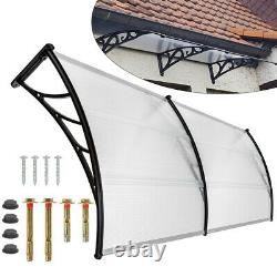 Door Canopy Roof Shelter Awning Shade Rain Cover Porch Outdoor Patio 200cm Width