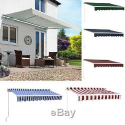 Door Canopy Window Front Porch Overhead Roof Rain Cover Manual Retractable