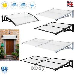 Door Porch Canopy Awning Rain Sun Shelter Outdoor Front Back Patio Roof Cover UK