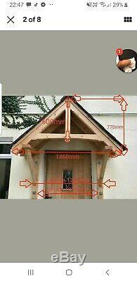 Door canopy porch timber rain shelter