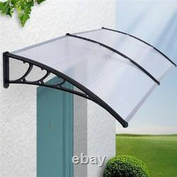 Easy Fit Door Canopy Window Awning Shelter Front Back Porch Sun Rain Cover Shade