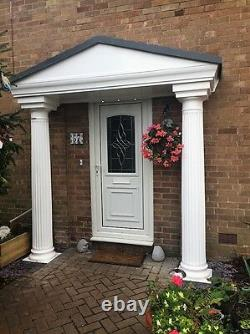 Elegance GRP Complete Porch Door Entrance Canopy and Columns Pillars Package