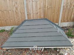 Fiberglass Front Door/Porch Canopy In Grey