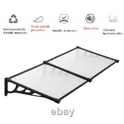 Flat Front Door Canopy Outdoor Awning, Rain Shelter for Back Door, Porch, Window