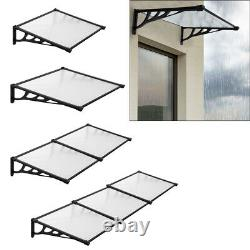 Front/Back Door Canopy Porch Window Awning Rain Cover Roof Outdoor Patio Shelter