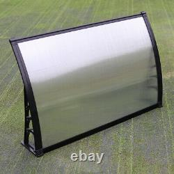 Front Back Garden Porch Patio Door Canopy Awnings Rain Shelter Plastic Black NEW