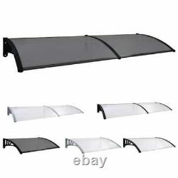 Front Back Patio Roof Door Canopy Awning Rain Shelter Roof Outdoor Porch 5 Sizes