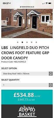 Front Door Canopy Porch. Rrp £500