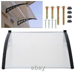 Front Door Canopy Weatherproof Door Roof Awning Door Porch 150cm UV-resistant