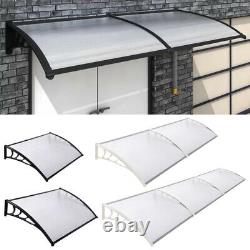 Front Door Porch Canopy Awning Outdoor Patio Rain Protector Shelter Clear Roof