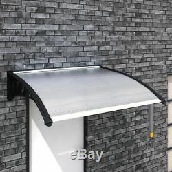 Front Door Porch Canopy Awning Shelter Window Sun Roof Outdoor Cover Rain 120cm