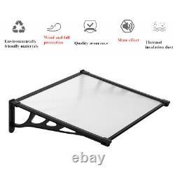 Front Door Rain Shelter Canopy Awning Porch Outdoor Sun Shade Cover Roof Sheet