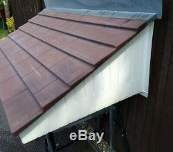 GRP canopy large door porch New old stock tile effect diy building EXDISPLAY