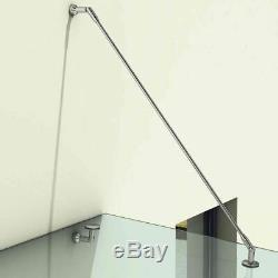 Glass Canopy Porch 1200x900mm Patio Shelter Cover Stainless Steel Fittings