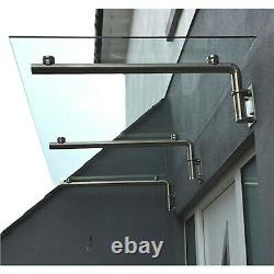 Glass Door Canopy Over Door Shelter Porch Stainless Steel Balcony Awning 1200mm
