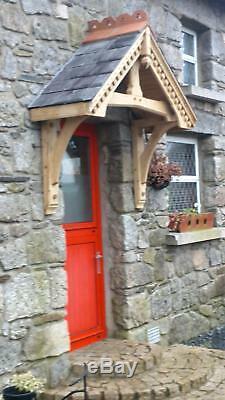 Green Oak door canopy, porch kit. 1250 between gallows. Green oak porch canopy