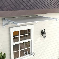 Grey Door Canopy Awning Shelter Front Back Porch Outdoor Shade Patio Rain Cover