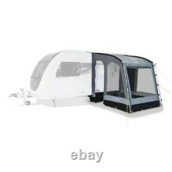 Grey Kampa Rally 200 Caravan Porch Awning, Ground Mats and Assorted Peg Bundle