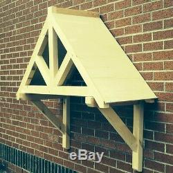 Kingsbridge Timber Door Canopies Bespoke wooden porch canopy, gallows bracket